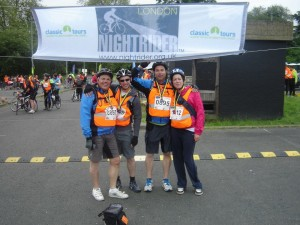Pitcure of Simon Key, Roger Key, Mark Viccars and Mary Rome for Nightrider 2013
