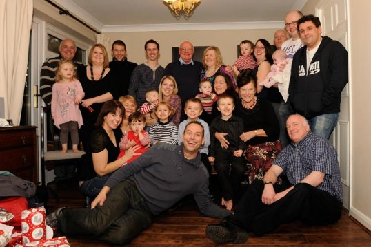 Picture of the Key family together in Christmas 2011